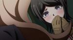 Despair Arc Episode 7 - Mukuro tearing up when Junko insults her breath