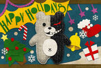 Digital MonoMono Machine Monokuma Holidays Greeting Card