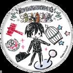 GraffArt Can Badge Shuichi Saihara