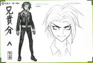 Art Book Scan Danganronpa V3 Character Designs Betas Kaito Momota (1)