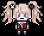 Danganronpa 1 Junko Enoshima School Mode Pixel Sprite 01