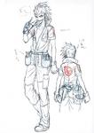 Danganronpa 3 - Character Profiles - Kazuichi Soda (Despair design sketches)