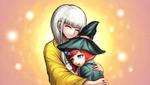 Danganronpa V3 CG - Angie Yonaga holding Himiko Yumeno