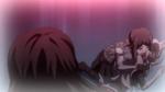 Despair Arc Episode 6 - Mukuro holding Junko's unconcious body