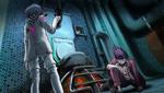 Danganronpa V3 CG - Maki Harukawa attempting to give the antidote to Kaito Momota (2)