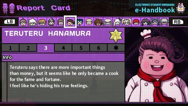 Teruteru Hanamura Report Card Page 3