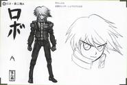 Art Book Scan Danganronpa V3 Character Designs Betas Keebo K1-B0 Ki-Bo Kiibo (3)