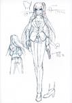 Danganronpa 3 - Character Profiles - Peko Pekoyama (Despair design sketches)