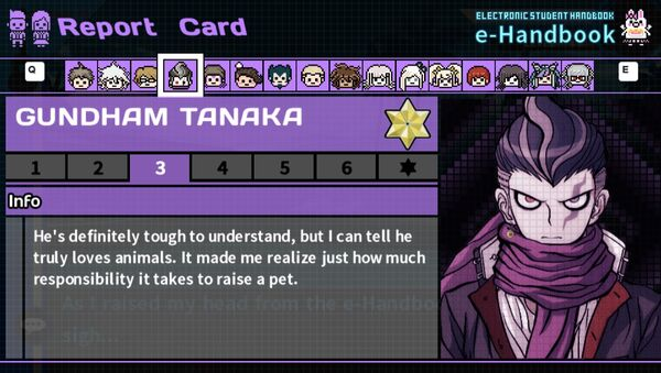 Gundham Tanaka's Report Card Page 3
