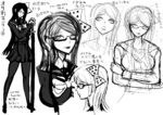 Danganronpa 2 Character Concept - DR2 Art Book (20)