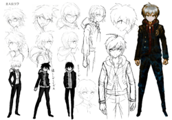 Makoto Naegi Beta Designs 1.2 Reload Artbook