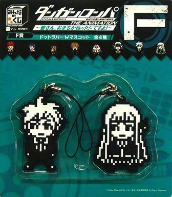 File:FuRyu Minna no Kuji Dot Rubber Mascots Makoto Naegi and Kyoko Kirigiri Doorsigns.jpg
