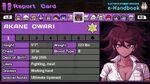 Akane Owari Report Card Page 1