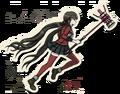 Danganronpa V3 Maki Harukawa Death Road of Despair Sprite (Hammer) 07