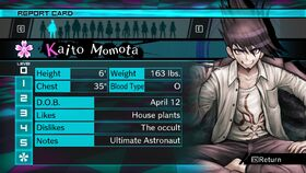 Kaito Momota Report Card Page 0 (For Shuichi)