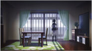 Komaru in her house ready to escape