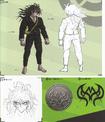 Art Book Scan Danganronpa V3 Gonta Gokuhara Designs