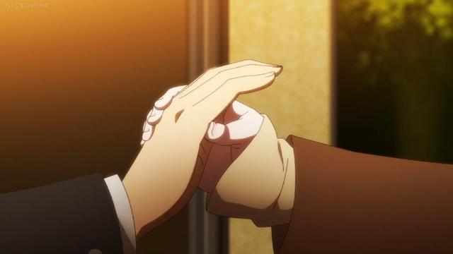 File:Chiaki grabs Hajime's hand.png