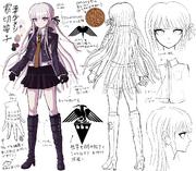 Danganronpa 1 Character Design Profile Kyoko Kirigiri (1)
