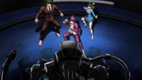 Danganronpa V3 CG - The students trying to protect Kaede Akamatsu from her execution (1)