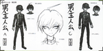 Art Book Scan Danganronpa V3 Character Designs Betas Shuichi Saihara (4)