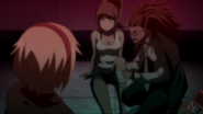Asahina helped by Hagakure and Togami