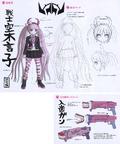 Danganronpa Another Episode Design Profile Kotoko Utsugi