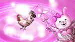 Danganronpa 2 CG - Usami transforming a chicken into a cow (1)