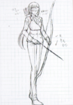 Danganronpa 3 - Character Profiles - SHSL Archer (Sketches)