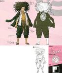Danganronpa 1 Character Design Profile 1.2 Reload Artbook Yasuhiro Hagakure