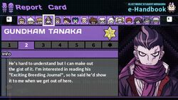 Gundham Tanaka's Report Card Page 2
