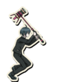 Danganronpa V3 Shuichi Saihara Death Road of Despair Sprite (Hammer) 06