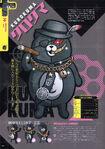 Danganronpa Another Episode Art Book Scan Kurokuma Profile