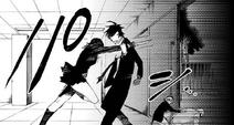 Danganronpa Gaiden KK Chapt 9 Mukuro tries to stab Takumi