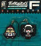 FuRyu Minna no Kuji Dot Rubber Mascots Celestia Ludenberg and Hifumi Yamada
