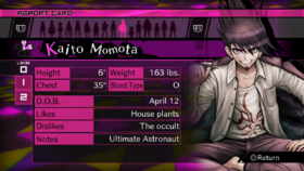 Kaito Momota Report Card Page 0 (For Kaede)