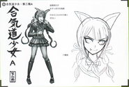 Art Book Scan Danganronpa V3 Character Designs Betas Tenko Chabashira (3)