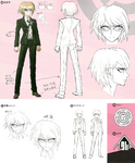 Danganronpa 1 Character Design Profile 1.2 Reload Artbook Byakuya Togami