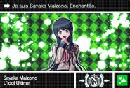 Danganronpa V3 Bonus Mode Card Sayaka Maizono N FR