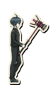 Danganronpa V3 Shuichi Saihara Death Road of Despair Sprite (Hammer) 01