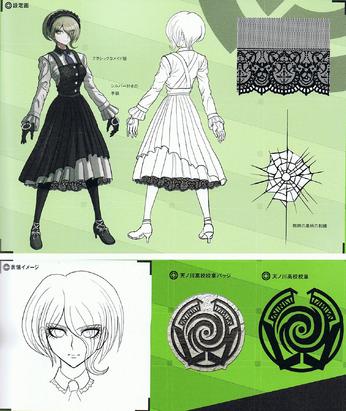 File:Art Book Scan Danganronpa V3 Kirumi Tojo Designs.png