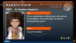 Yasuhiro Hagakure Report Card Page 5