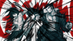 Danganronpa 2 CG - Nekomaru Nidai and Akane Owari sparring (1)