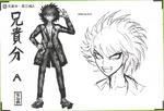 Art Book Scan Danganronpa V3 Character Designs Betas Kaito Momota (3)