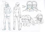 Danganronpa 3 Booklet - Design Sketches - Steering Committee Member (1)