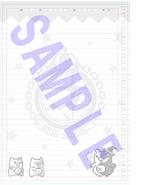 Danganronpa V3 Preorder Bonus Notebook Paper from Furuhon Ichiba