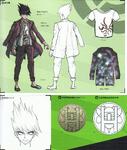 Art Book Scan Danganronpa V3 Kaito Momota Designs