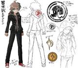 Danganronpa 1 Character Design Profile Makoto Naegi