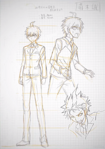 Danganronpa 3 - Danganronpa Project Trailer Sketches - Makoto Naegi