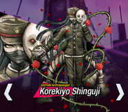 Korekiyo Shinguji Danganronpa V3 Official English Website Profile (Mobile)